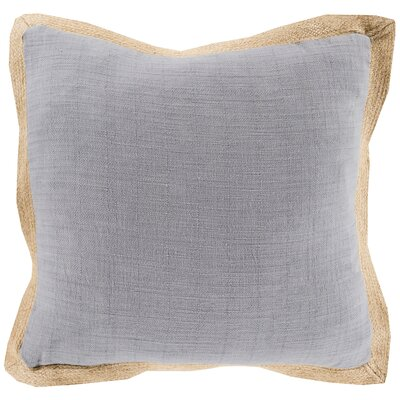 Fern Jute Flange Throw Pillow Cover Color: GrayBrown