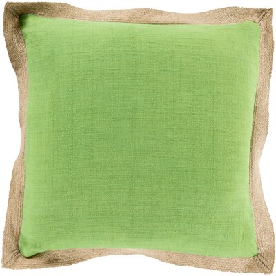 Mantador Throw Pillow Size: 22 H x 22 W x 4 D, Color: Grass Green/Camel, Filler: Down