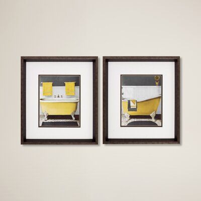 Citron Bath 2 Piece  Framed Graphic Art Set