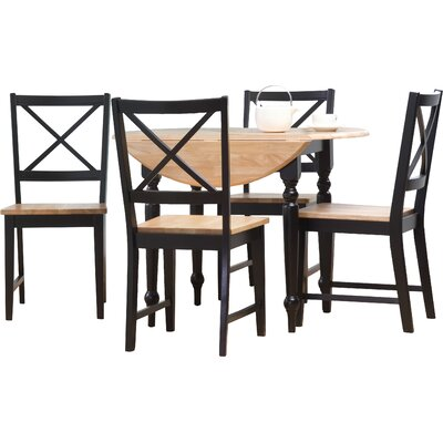 Sally 5 Piece Dining Set Finish Black