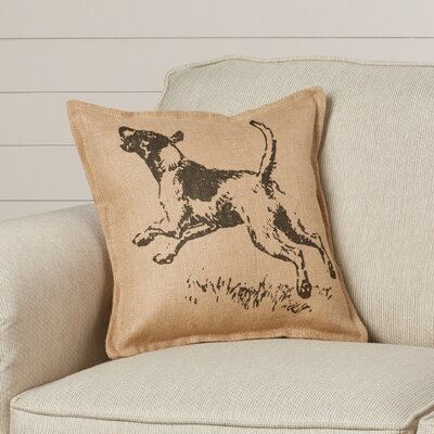 Maddock Dog Burlap Throw Pillow