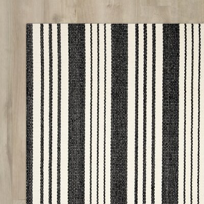 Ollie Hand Woven Black Area Rug Rug Size: Runner 26 x 12
