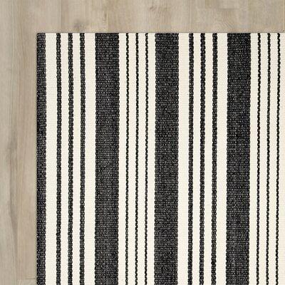 Ollie Hand Woven Black Area Rug Rug Size: 8 x 10