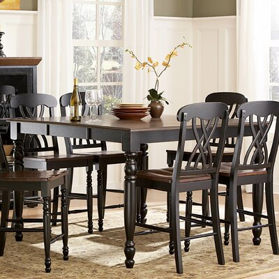 Frona Counter Height Dining Table Finish Antique Black