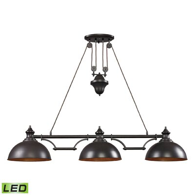 Rodriques 3-Light Kitchen Island Pendant
