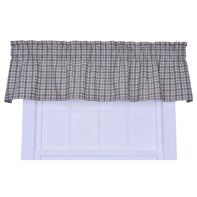 Leo Plaid Window 70 Curtain Valance Color: Green