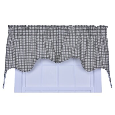 Leo Plaid Empress Lined 70 Curtain Valance Color: Green
