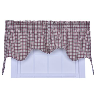 Leo Plaid Empress Lined 70 Curtain Valance Color: Red