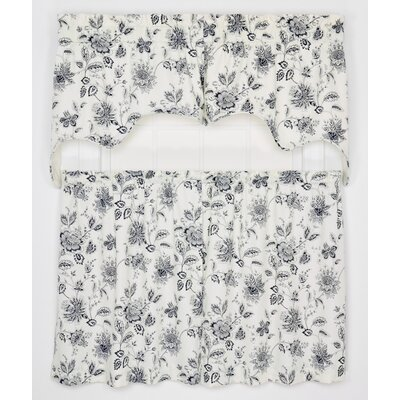Hawthorn Lined Swag 70 Curtain Valance Color: Navy