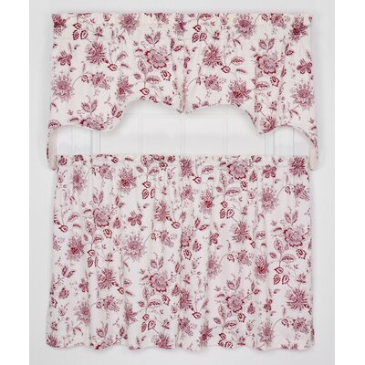 Hawthorn Lined Swag 70 Curtain Valance Color: Red