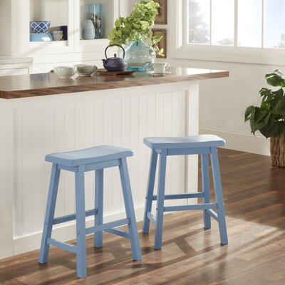Elise 24 Bar Stool Finish: Blue