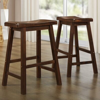 Sharman Counter Height 24 Bar Stool Finish: Warm Cherry