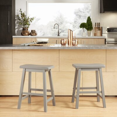 Elise 24 Bar Stool Finish: Grey