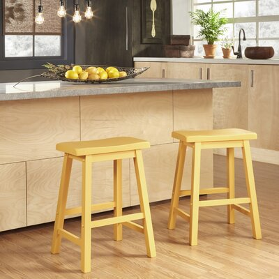 Elise 24 inch Bar Stool Finish: Yellow