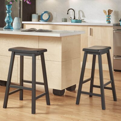 Elise 29 Saddle Bar Stool Finish: Vulcan Black