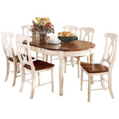 Buena Extendable Dining Table Finish: Merlot / Buttermilk
