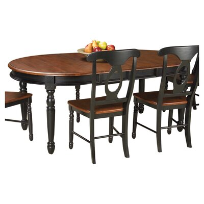 Buena Extendable Dining Table Finish Oak Black