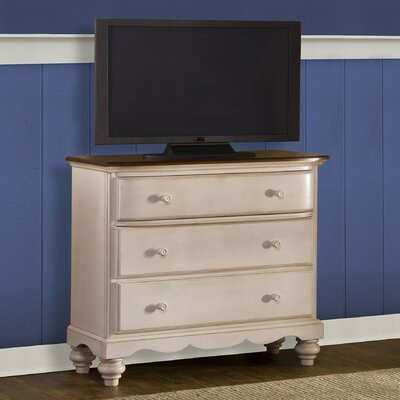 Mertie 3 Drawer Media Chest Finish: Old White