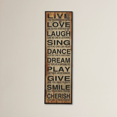 Live Love Laugh Wall Decor ATGR1159 25320773