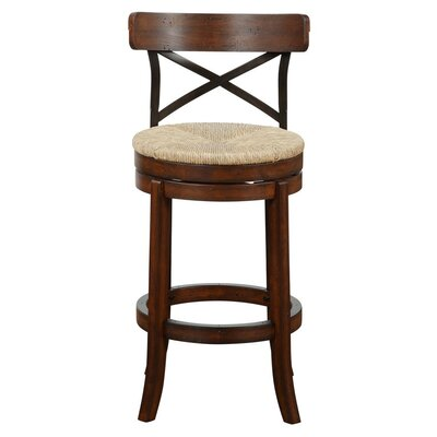Jacklyn 29 Swivel Bar Stool Finish: Mahogany