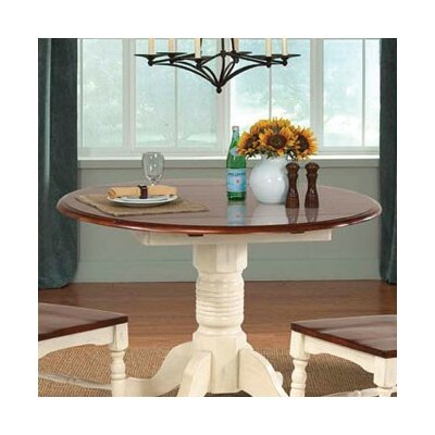 Shelburne Drop Leaf Dining Table Top Finish: Merlot and Buttermilk