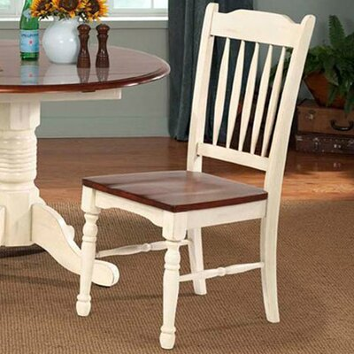Buena Side Chair (Set of 2) Finish: Brown / Buttermilk