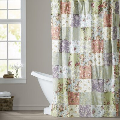 Bauer Patchword Cotton Shower Curtain