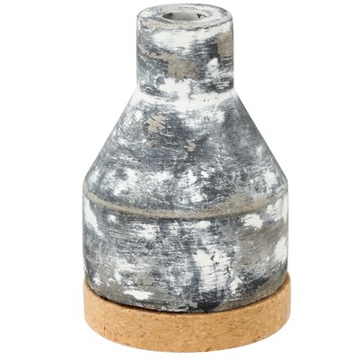 Ridge Staggered Round Vase