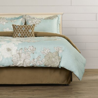 Effie Comforter Set Size: King, Color: Blue