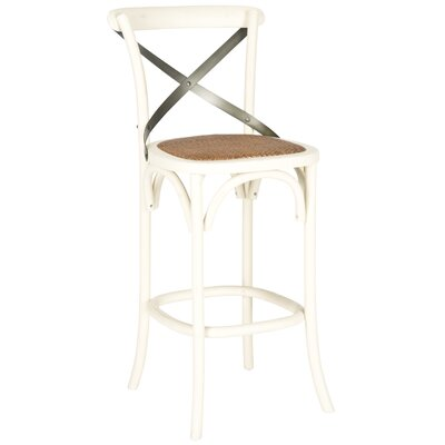 Lorna 30.7 Bar Stool Frame Color: Ivory