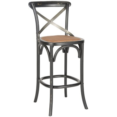 Lorna 30.7 Bar Stool Frame Color: Hickory