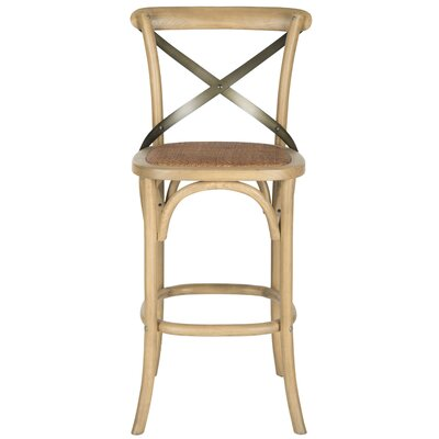 Lorna 30.7 Bar Stool Frame Color: Weathered Oak