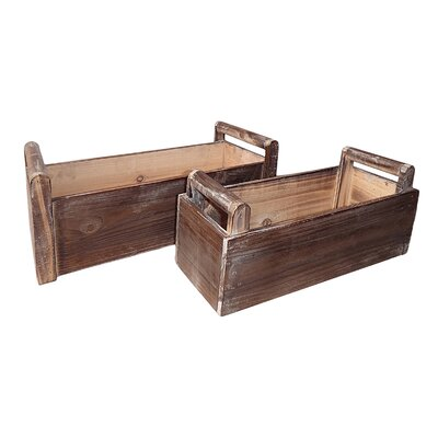 Luthersville 2 Piece Wood Planter Box Set