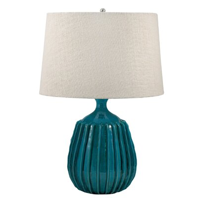 Ribbed Terra Cotta 24 Table Lamp