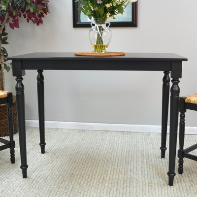 Emilia Dining Table Color: Antique Black