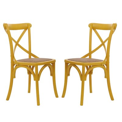 Gabin Side Chair Finish: Yellow