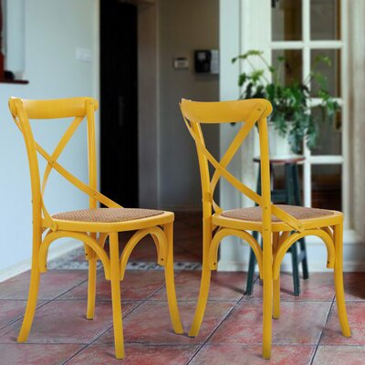 Vanhook Side Chair Color: Yellow