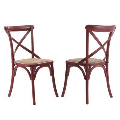 Vanhook Side Chair Color: Deep Red