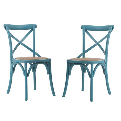 Gabin Side Chair Finish: Light Blue