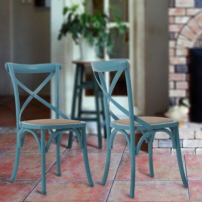 Vanhook Side Chair Color: Light Blue