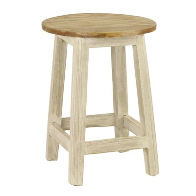 Gabin 18.5 Bar Stool Upholstery: White
