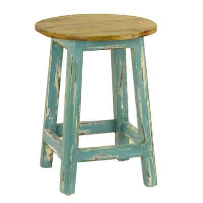 Gabin 18.5 Bar Stool Upholstery: Blue