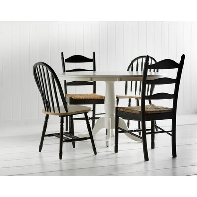 Charlotte Arrowback Side Chair Color: Black/Natural