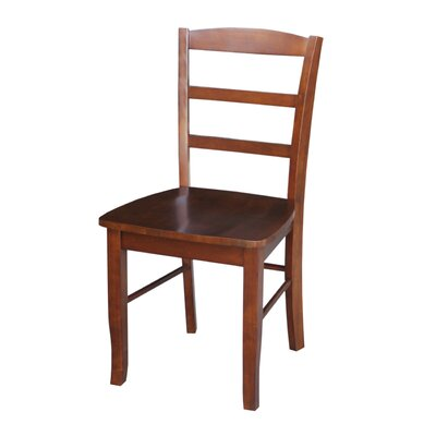 Brianne Solid Wood Dining Chair Color: Espresso
