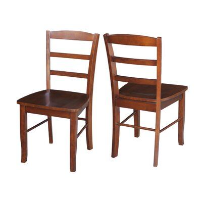 Brianne Ladderback Solid Wood Dining Chair Finish: Espresso