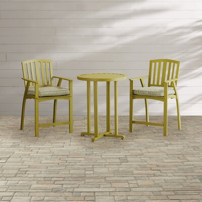 Barrister Lane 3 Piece Bistro Set with Cushions