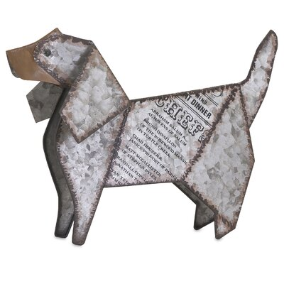 Dickens Galvanized Dog Figurine