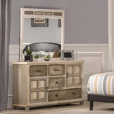 Zettie 4 Drawer Dresser with Mirror