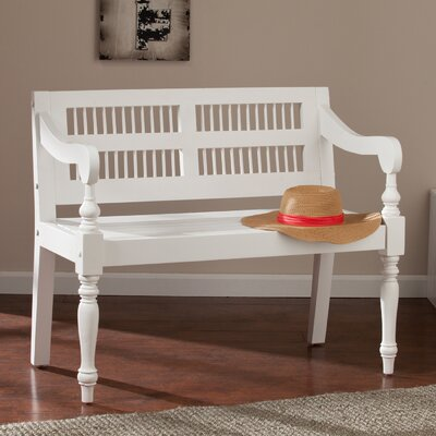 Poppy Wood Entryway Bench Finish: Crisp White