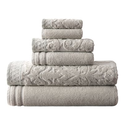 Isadora 6 Piece Towel Set Color: Gray